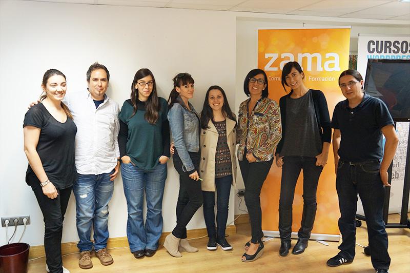 Foto de grupo cursos wordpress madrid octubre