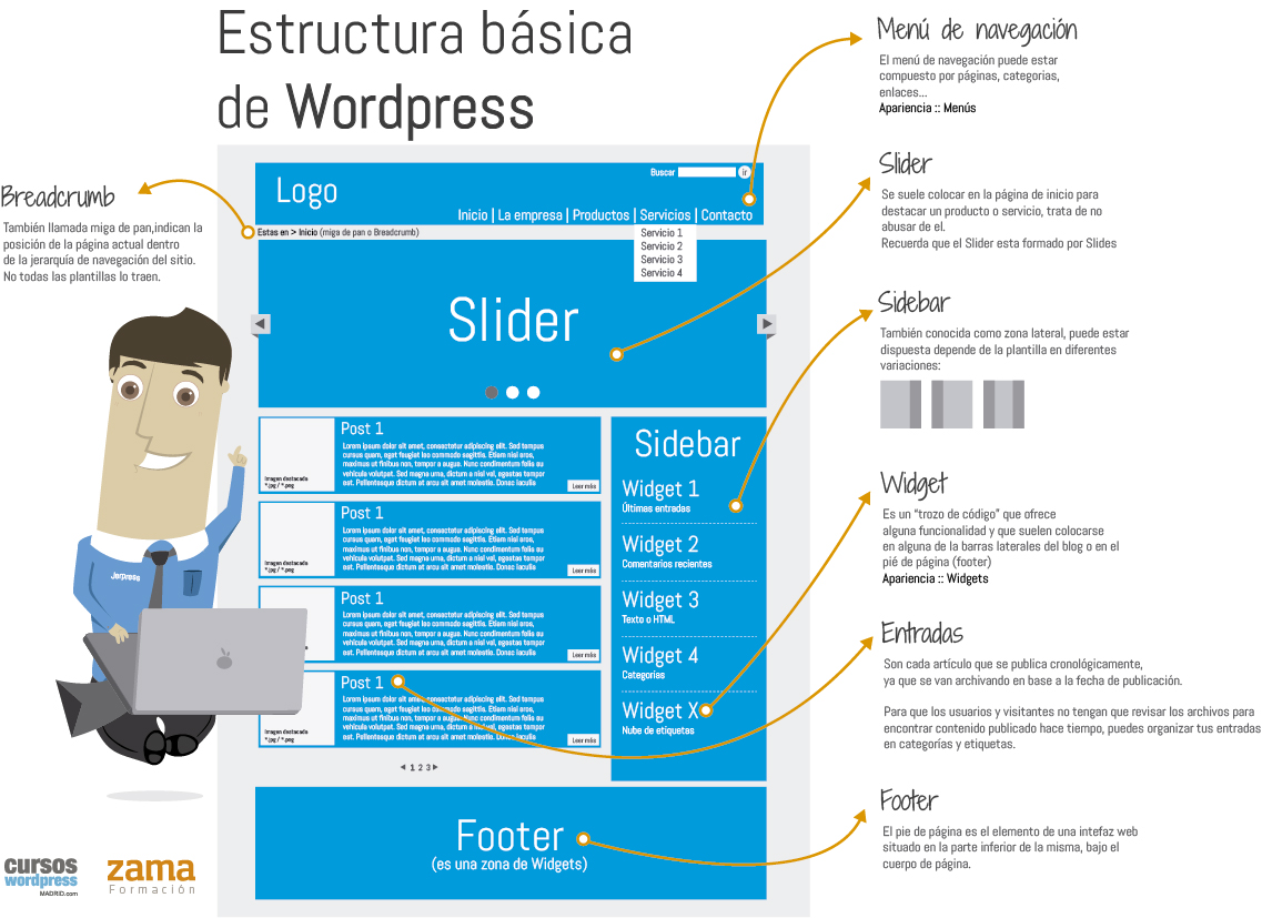 infografia de un wordpress