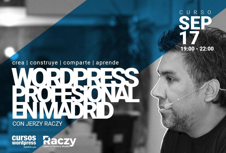curso wordpress septiembre 2018 con Jerzy Raczy